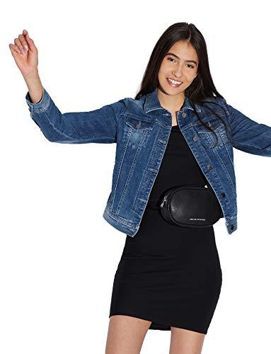 Armani Exchange Damen 8NYACB Kleid, Schwarz (Black 1200), Medium