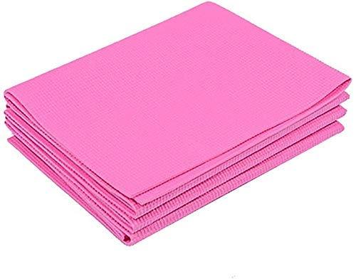 Alfombrillas de yoga sin deslizarse sin deslizamiento de la alfombra de ejercicio de seguridad suave para Pilates para entrenamiento para el hogar Gimnasio Viaje al aire libre (Color: Púrpura, Tamaño: