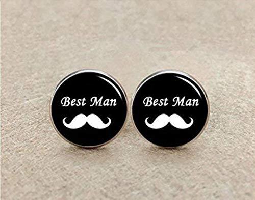 Best Man Manschettenknöpfe, Bart, Manschettenknöpfe Hochzeit Manschettenknöpfe