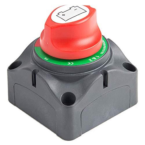 GEEKEN Interruptor Maestro del Aislador De Desconexión De 3 Posiciones, Interruptor De Corte De 12-60 para Coche/Vehículo/RV/Barco/Marino, 200/1250 Amperios a Prueba De Agua
