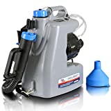 AlphaWorks Fogger Machine Disinfectant Improved Atomizer Corded Back Pack Mist Duster ULV Sprayer 3GAL Mist Blower Adjustable Particle Size 0-50μm/Mm