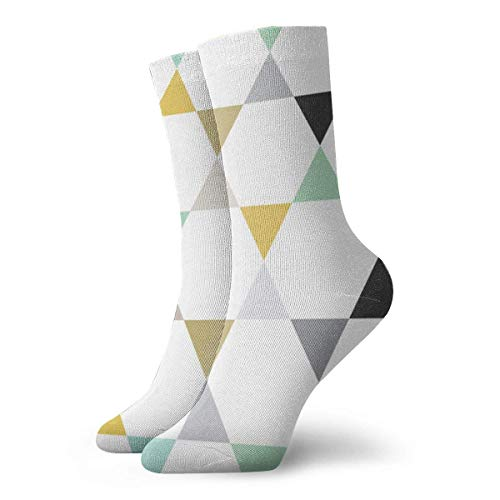 Emonye Hexagon Triangle Stars Socks Athletic Crew Socks Running Sport Tube Sock Soccer Sock for Men Women 30CM