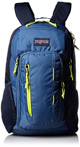 JanSport Mens Digital Carry Mainstream Beacon Backpack - Navy Moonshine/Lime