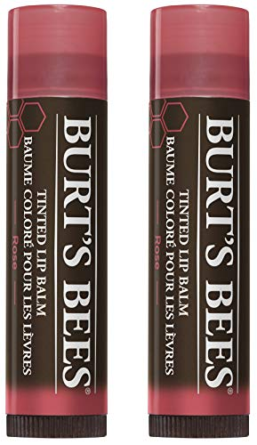 Burt's Bees 100% Natural Tinted Lip Balm, Rose