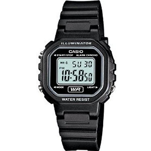Casio Womens Classic Digital Black Resin Watch - LA20WH-1ACF