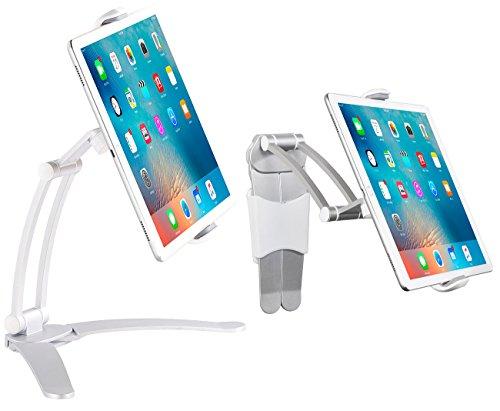 Callstel Tablet Halterung Tisch: Tisch-Ständer und Wand-Halter kompatibel mit iPads und Tablet-PCs bis 12,9