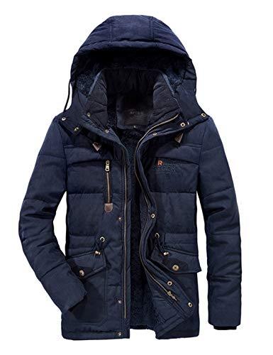 APTRO Herren Jacke Winter Mantel Fleece warme Winterjacke Outdoor Jacket 868 Dunkelblau XL