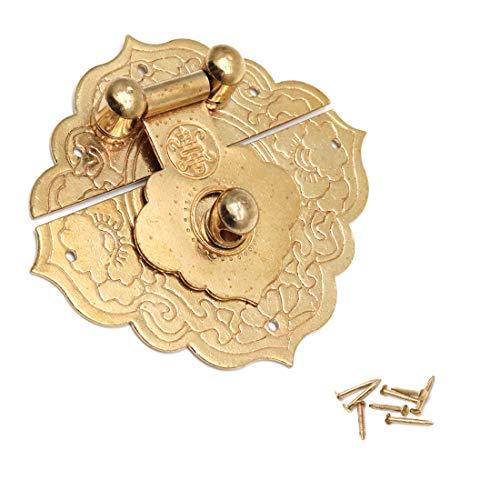 Karcy - Broche para joyas, caja de madera, diseño vintage, color dorado envejecido