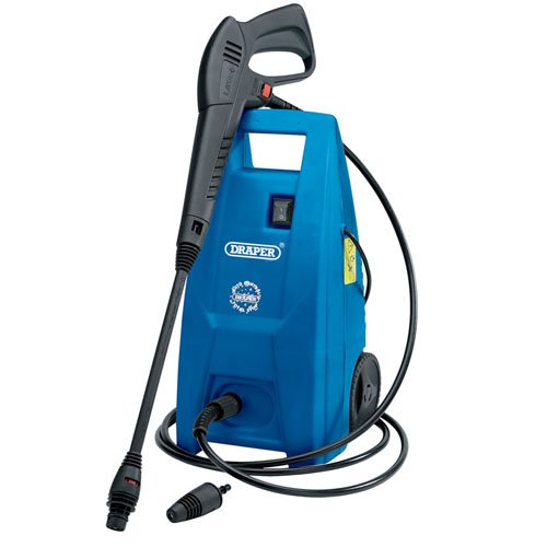 Draper 31562 1500W 230V Pressure Washer with Total Stop Feature 1500 W Black and