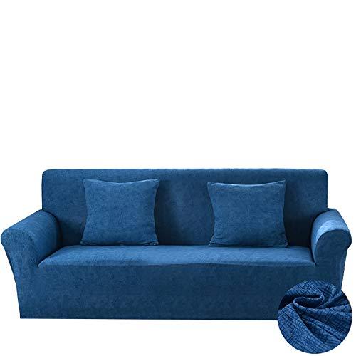 Yinnn Funda Elástica, Funda de sofá Cama, Protector Ajustables de Sofá, Extraíbles y Lavables, para Sofa contra Polvo en Forma de L 3-Seater 190-230cm Blue