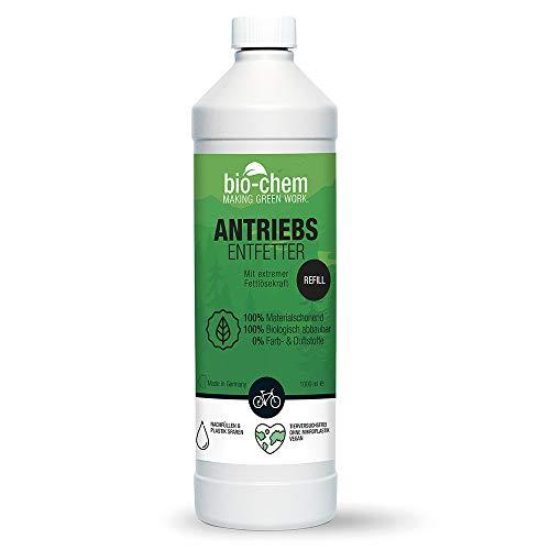 bio-chem Fahrrad-Kettenreiniger Antriebsentfetter - 1000 ml Nachfüllflasche - Effektiv & biologisch abbaubar - geeignet für Fahrradkette, Antriebsteile und Bremsbeläge aller Fahrräder, auch E-Bikes