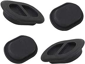 BOXATDOOR 4 Pieces Oval Floor Pan Drain Plug,Floor Pan Plug,Floor Drain Plug for 2014-2018 Jeep Wrangler JK & JL(Black)