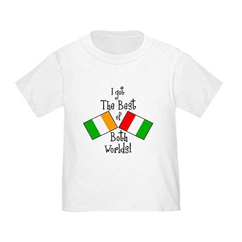 CafePress Irish Italian Kid Toddler T Shirt Cute Toddler T-Shirt, 100% Cotton White