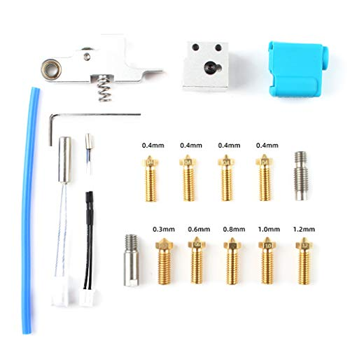 BIlinli Printer Nozzle Silicone Sleeve Throat Thermistor Heating Tube Heating Block Kit for Sidewinder X1 3D Printer Accessories Parts