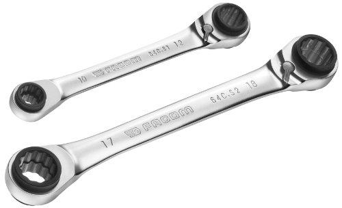 Facom 64C.PG Doppel-Ratschenringschlüssel, 2 Stück