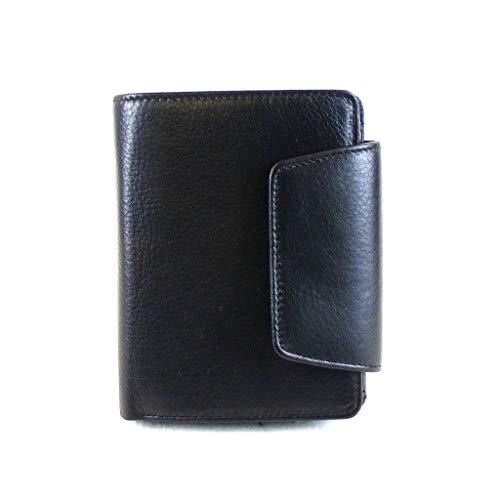 HGL Damen Geldbörse Hochformat Echt-Leder schwarz RFID Ausleseschutz 17066