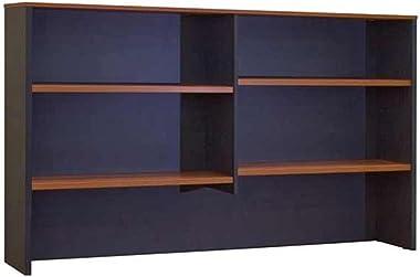 Merlin Bookcase Hutch Top of Desk & 1500 x 310 x 1080mm H Ironstone Wild Cherry