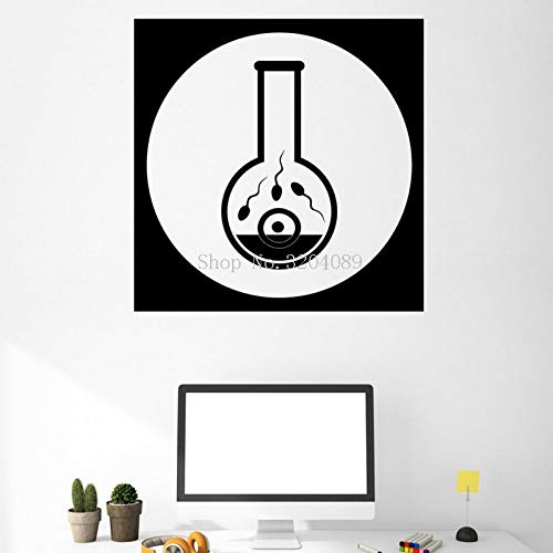 Einfache Neue Design Vinyl Aufkleber Biologische Experimente Icons Konzeption Leben Wandaufkleber Steuern Dekor Kunst Wandbilder Geschenk Y 56x56 cm