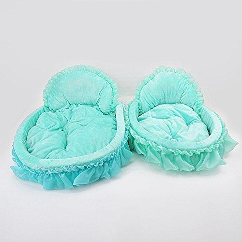 Suministros para mascotas de gama alta princesa cama lindo encaje nido mascota nido gato nido algodón nido 56* 45* 11 verde