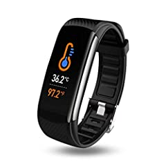 FITNESS TRACKER: Accurately track and sync your steps, distance traveled, calories burned, activity time all day to the phone app. Supported multiple exercise modes including walking, running, cycling, skipping, badminton and table tennis TEMPERATURE...