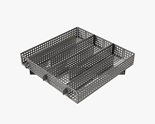 Jaeger-Sparbrand Gr. 4, 6in1, Edelstahl, verstellbar, Kaltraucherzeuger, Cold Smoke Generator, Food Smoker, Meat Smoker, für Grills, BBQ, Räucheröfen, GB-geschütz