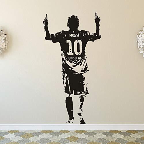 FC Barcelona Fútbol Deportes Fútbol Estrella Jugador Lionel Messi Postura clásica Etiqueta de la pared Vinilo Calcomanía para automóviles Ventiladores Dormitorio Sala de estar Club Decoración par