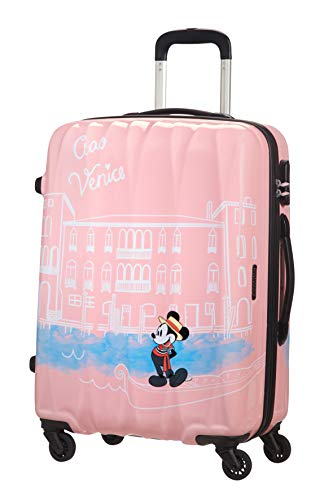 American Tourister Disney Legends Spinner M Valigia per Bambini, 65 cm, 62.5 L, Rosa (Take Me Away Mickey Venice)