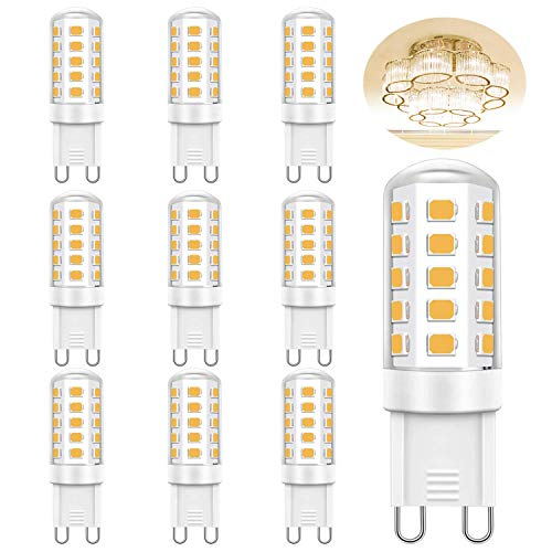 G9 LED Lampe Warmweiß 3000K Ketom 5W G9 Leuchtmittel 400lm statt 28W/30W/40W Halogenlampe, AC220V-240V Nicht Dimmbar 360 Grad Winkel Kein Flimmern G9 LED Leuchtmittel, 10er Pack