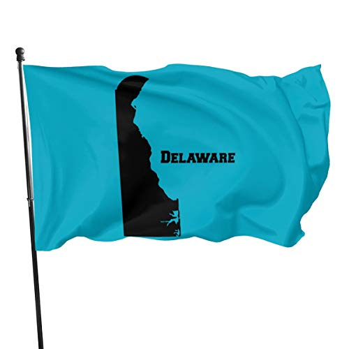 デラウェア州旗3 * 5フィートバナーガーデン