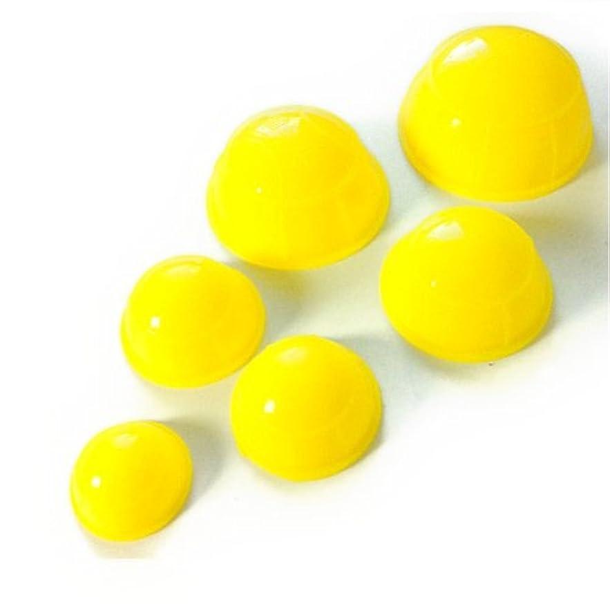 高度アルミニウムソーシャル簡易 吸い玉6個セット イエロー