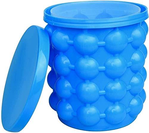 Cubiteras Ice Bucket para Interior y Exterior Cubo de hielo de silicona reutilizable portátil con hielo de silicona con tapa cubeta de cubitos de hielo para fiesta de barra club casa jardín al aire li