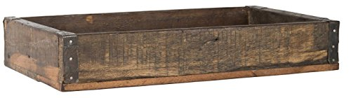 IB Laursen Holzkiste Kiste Ordnungsbox Allzweckkiste mit Metallbeschlag - Jede Holzkiste EIN Unikat