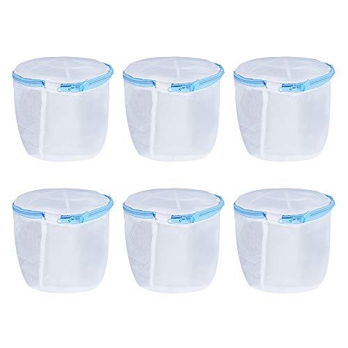 MoYouno 6Pcs BH Waschbeutel, Waschmaschine Mesh Waschbeutel, Wiederverwendbare langlebige Waschbeutel für BH, Unterwäsche, Socken, Dessous Babykleidung