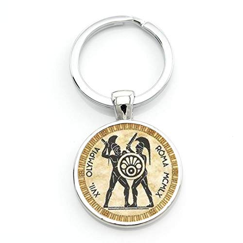 Fencing Sport Schlüsselanhänger Vintage Zaun-Silhouette Kunst Schlüsselanhänger Ring für Männer Frauen Club Geschenke Schmuck