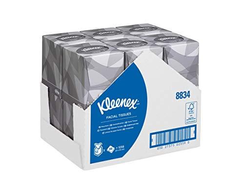 Kleenex 8834 Kosmetiktücher in der Würfelbox, 2-lagige, 12 Würfelboxen x 88 Tücher, weiß