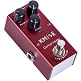 lotmusic Compressor Electric Guitar Effects Pedal Mini Single Type DC 9V True Bypass (vermilion)