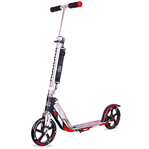LIYANJJ Scooters, 2 Ruedas Kick Scooter 5 Niveles de Altura Ajustable para niños de 10 años en adelante/Adultos + Neumáticos Grandes + Correa para el Hombro Scooter portátil adolescen