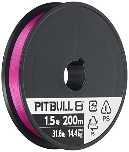 シマノ ピットブル8+ 200m 1.5号 トレーサブルピンク