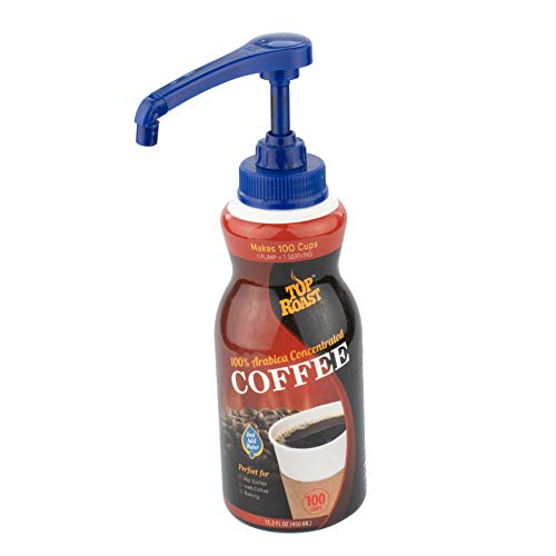 Top Roast Colombian Coffee   Ultimate 64:1 Coffee Concentrate   Makes 100 Cups   Includes Pre-Measured Pump   15.2 Fl Oz   Just add 1 pump to water or milk