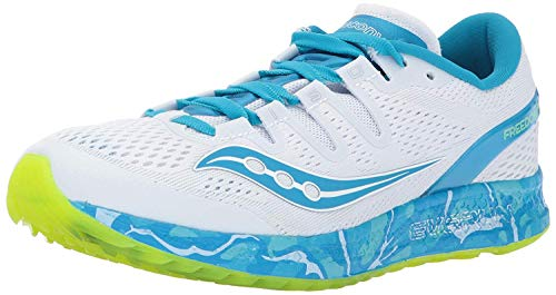 Saucony Women's Freedom Iso Running-Shoes, Blue, 5.5 B(M) US