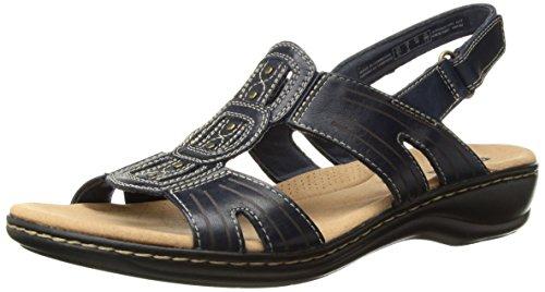 Clarks Women's Leisa Vine Platform, Navy Leather, 8 Medium US