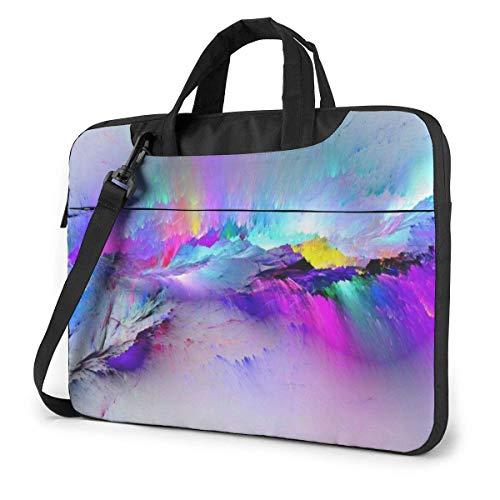 Laptop Shoulder Bag 13 Inch, Colorful Crack Briefcase Protective Bag
