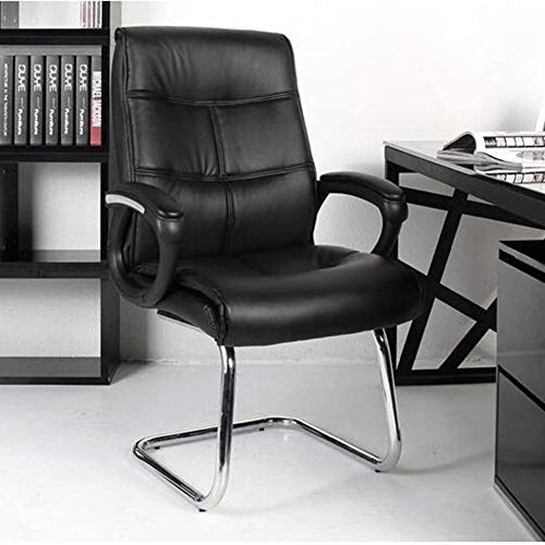XBSXP Executive Recline Chairs Office, Ergonomic Breathable PU Leather Chrome Base Executive Chairs 350-Pound Capacity Multifunction Chair Padded Office Chair