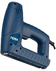 FERM Electric – multitacker – elektrisk häftpistol – för 8 – 16 mm häftklamrar och 15 – 16 mm spikar – med variabel hastighet – inkluderar 400 häftklamrar och 100 spikar
