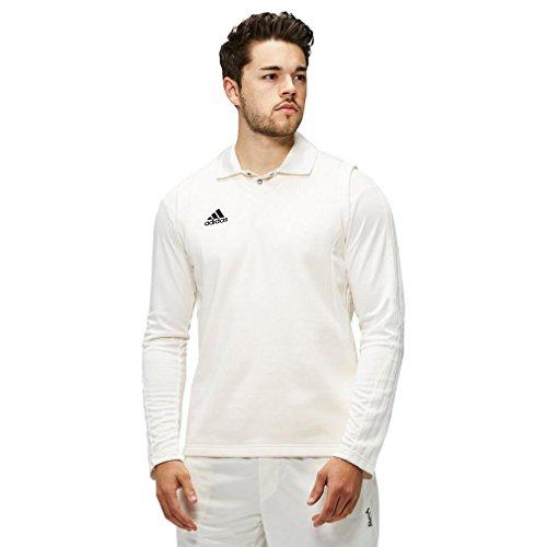 adidas Ärmelloses Herren Cricket Sweater, Weiß, M