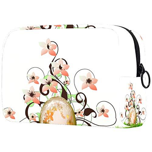Bolsa de maquillaje para mujer con cremallera Happy Easter