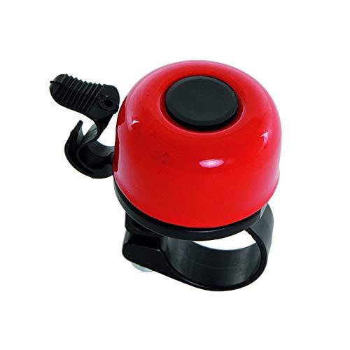 Contec Mini Glocke 33mm Fahrrad Klingel Klassisch Lenker Befestigung 22,2mm Bell Ringer, 32092, Farbe rot