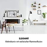 Klarstein Studio Light & Fire 1 Kamin - Elektrokamin, elektrischer Kamin mit Flammeneffekt, E-Kamin, 1000/2000 Watt, Timer-Funktion, Thermostat, MDF-Gehäuse, inkl. Fernbedienung, weiß - 2