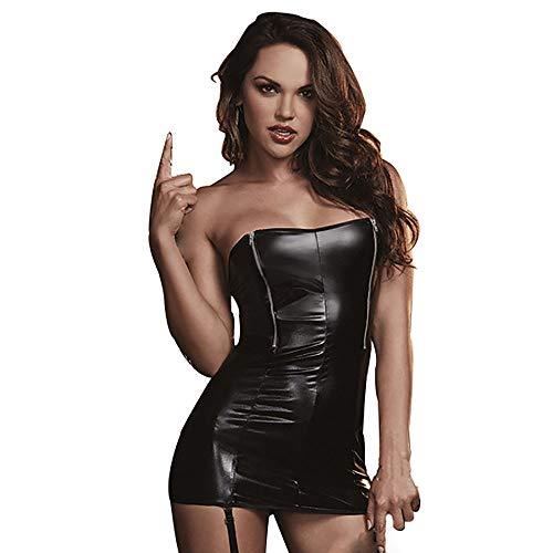 Tooklanet Gonna da spogliarello da donna in abito erotico sexy mini abito da festa in bikini