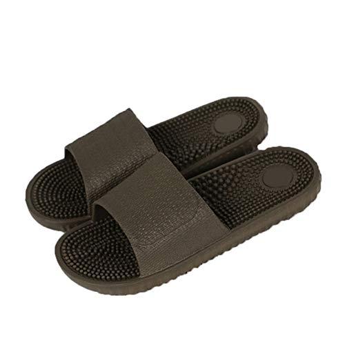 WDDNTX Zapatillas, Zapatillas De Masaje De Interior para Hombres Zapatillas De Masaje Antideslizantes Caseras para Hombres Zapatos Hombre Chanclas De Playa Diapositivas para Hombres, 45